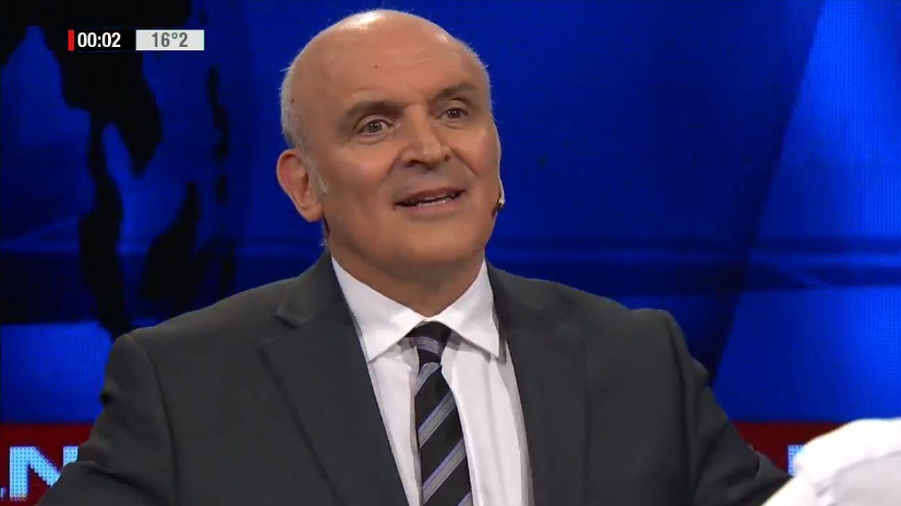 José Luis Espert durante la entrevista con Luis Novaresio.