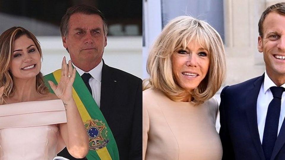 Bolsonaro hizo un comentario desafortunado sobre Briggite y Macrón le contestó