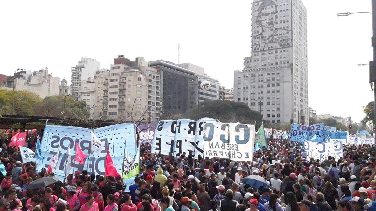 marcha de organizaciones sociales