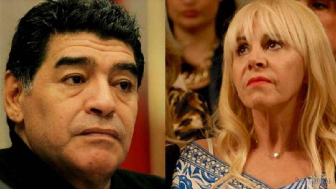 Allananamiento y Escándalo: Diego Maradona reclama sus camisetas a Claudia Villafañe