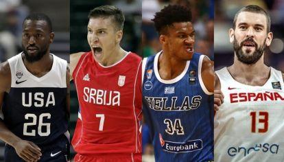 Los candidatos a ganar el Mundial de básquet