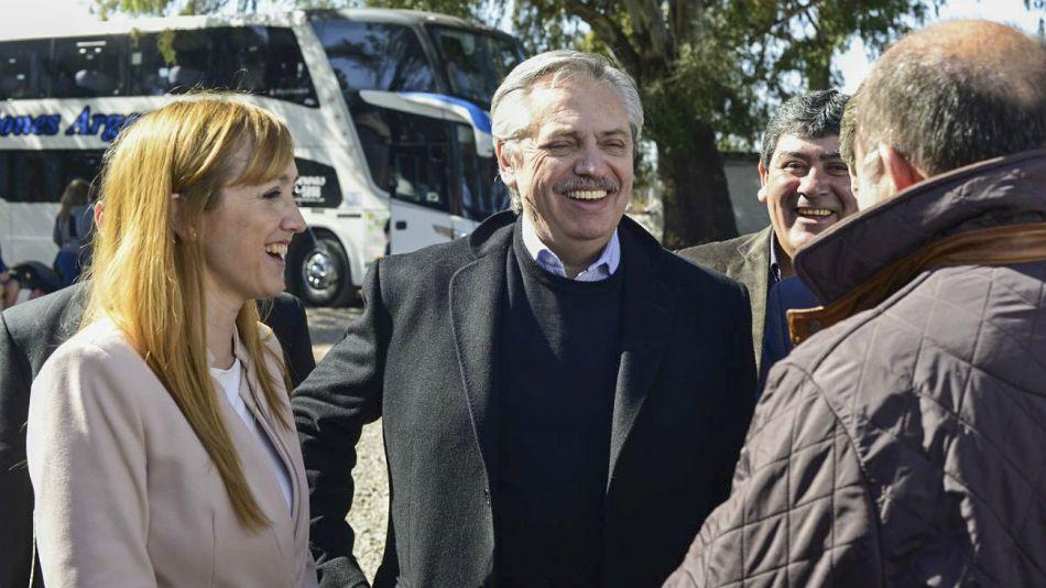 Alberto Fernández, de campaña electoral.
