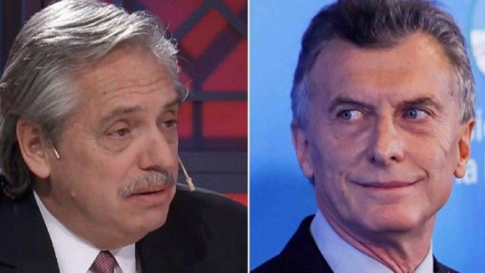 Mauricio Macri y Alberto Fernández.