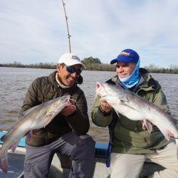 Varios fueron los dobletes obtenidos por los pescadores en el Río de la Plata.