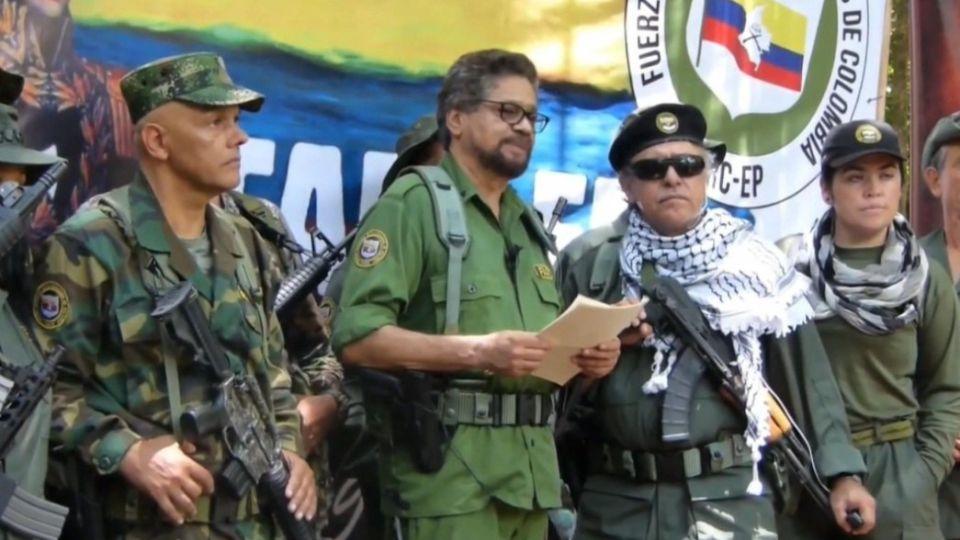 """El jefe guerrillero conocido como """"Iván Márquez"""" hizo el anuncio en un videodesde un lugar no revelado."""