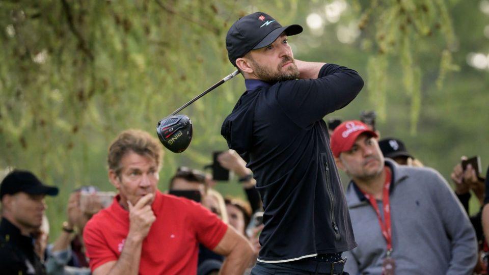 Justin Timberlake se divirtió jugando al golf con Denis Quaid