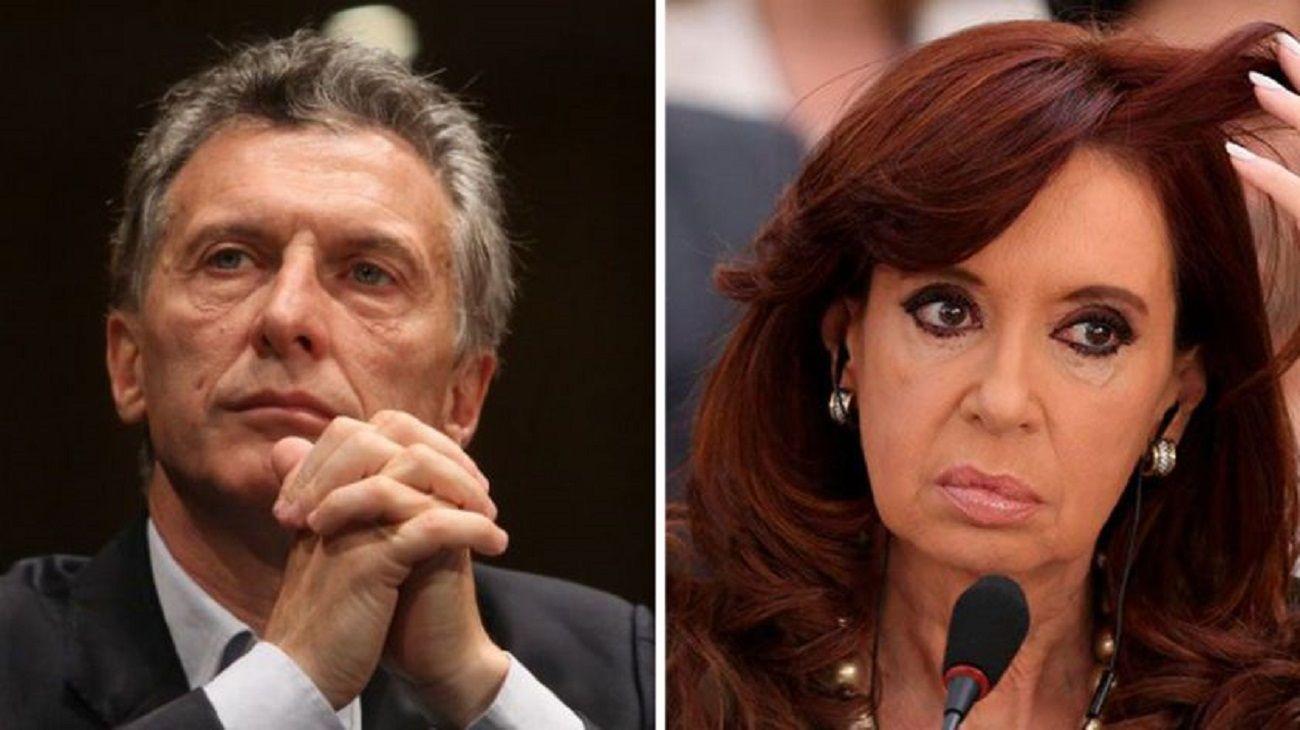 Mauricio Macri y Cristina Fernández.