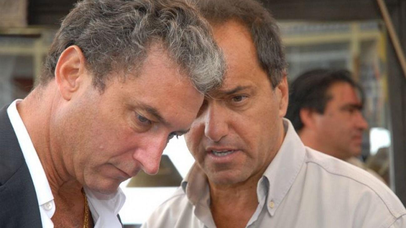 """José """"Pepe"""" Scioli con su hermano, el exgobernador Daniel Scioli."""