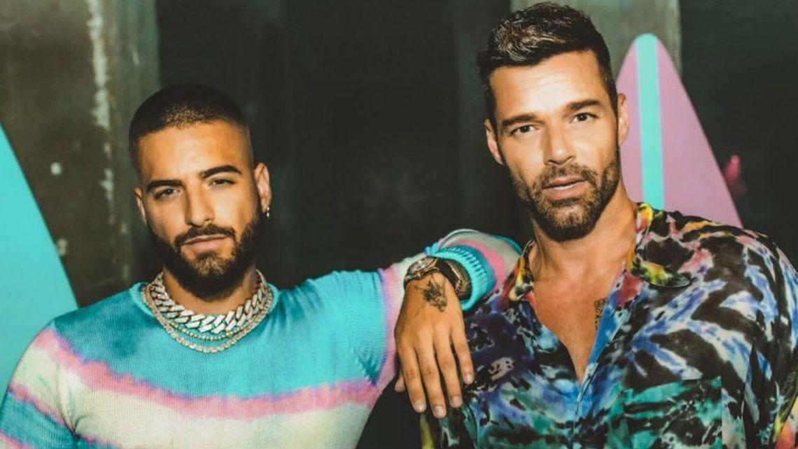 Caras Ricky Martin Y Maluma Juntos Mirá El Video