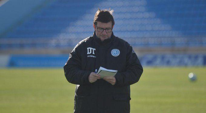 Un bálsamo. Alfredo Berti trabaja más distendido luego de su primera victoria como DT de Belgrano.