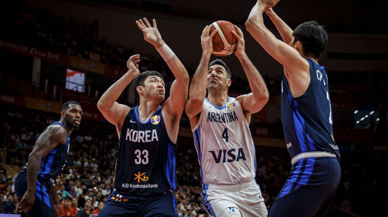 Luis Scola fue la figura de la Argentina en el debut del Mundial de básquet con triunfo ante Corea del Sur.