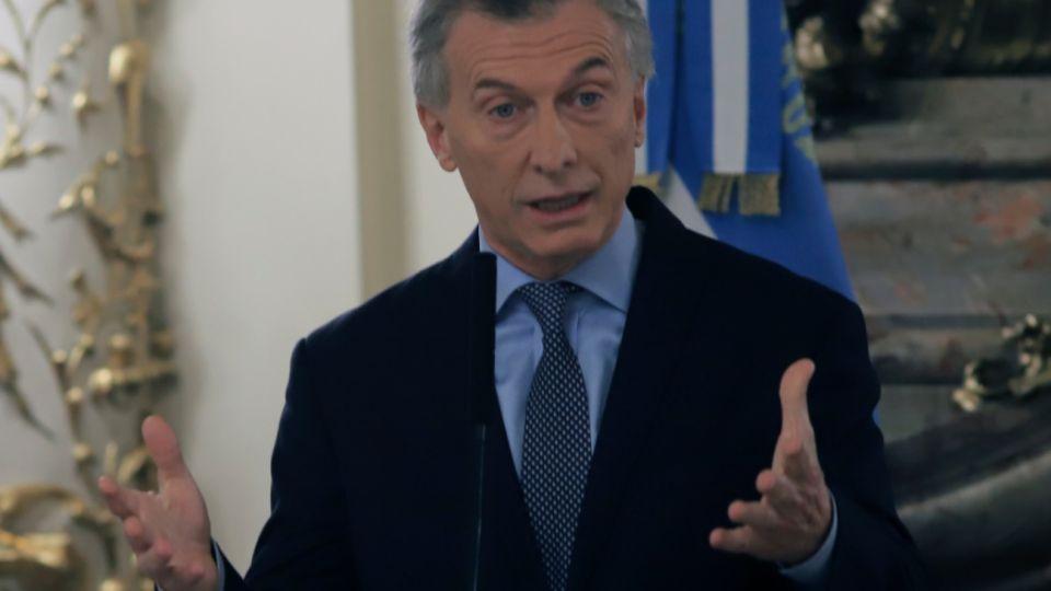 El presidente Mauricio Macri.