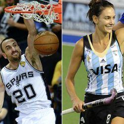 Manu Ginóbili y Lucha Aymar