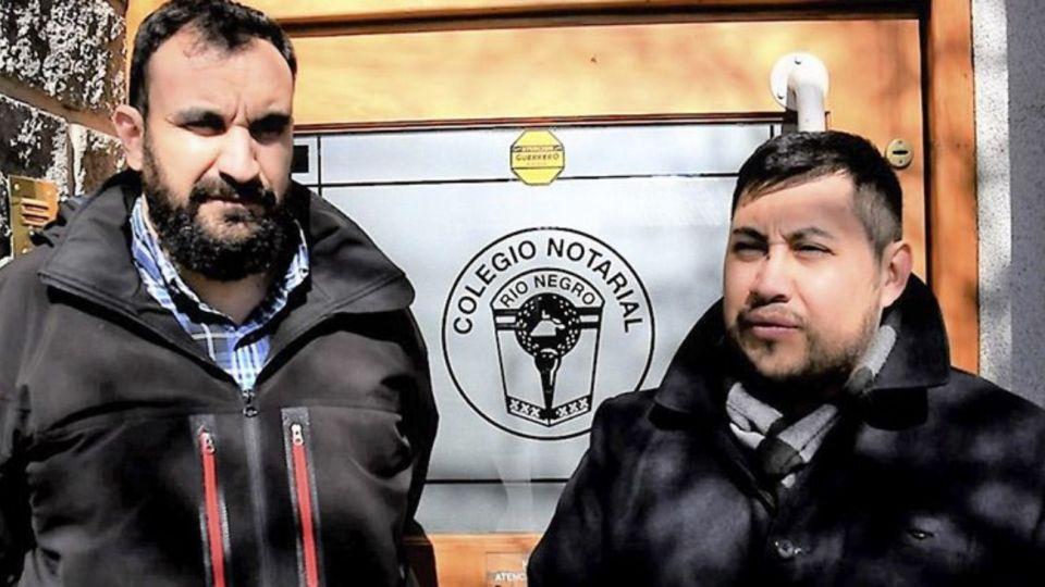 El presidente del Instituto Municipal de Tierra y Vivienda para el Hábitat Social, José Mella, y el delegado del IPPV en Bariloche, Sebastián Hernández.