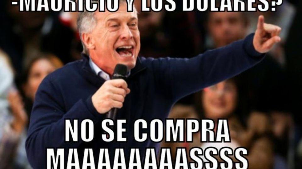 El presidente Mauricio Macri, víctima de los memes por su decisión.