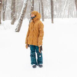 Aggy Ferrari disfrutando de la nieve en Cerro Castor