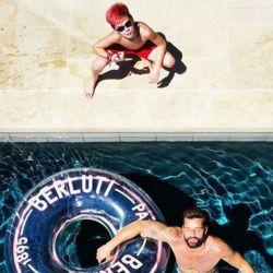 Ricky Martin con su hijo