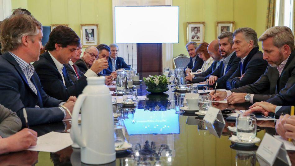 El presidente Mauricio Macri encabezó la reunión de Gabinete en la Casa de Gobierno.