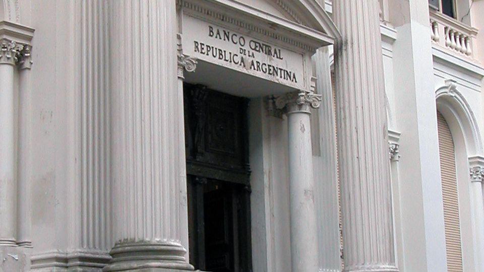 Frente edilicio del Banco Central de la República Argentina.