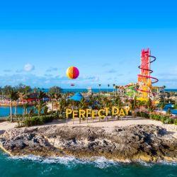 Así nos recibe la isla Perfect Day at CocoCay de Royal Caribbean International, que forma parte de los nuevos destinos privados de alto nivel de la línea de cruceros.