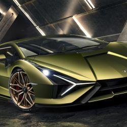 Boceto digital del Lamborghini Sián.