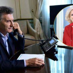 Mauricio Macri y Mirtha Legrand