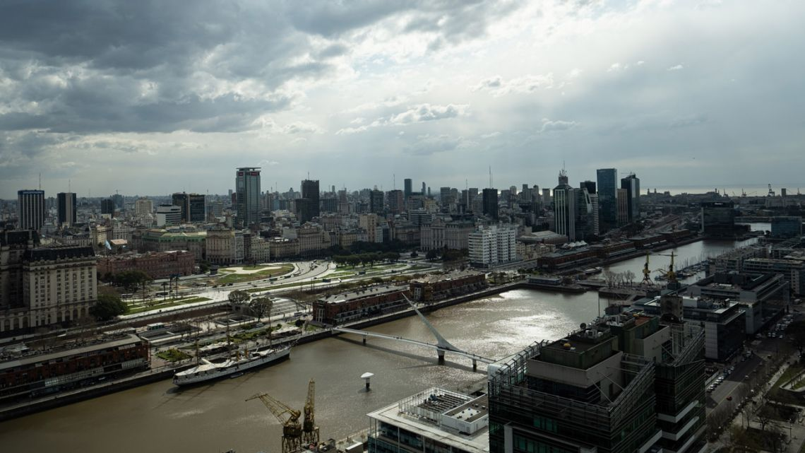 A view of the Puerto Madero neighbourhood of Buenos Aires.