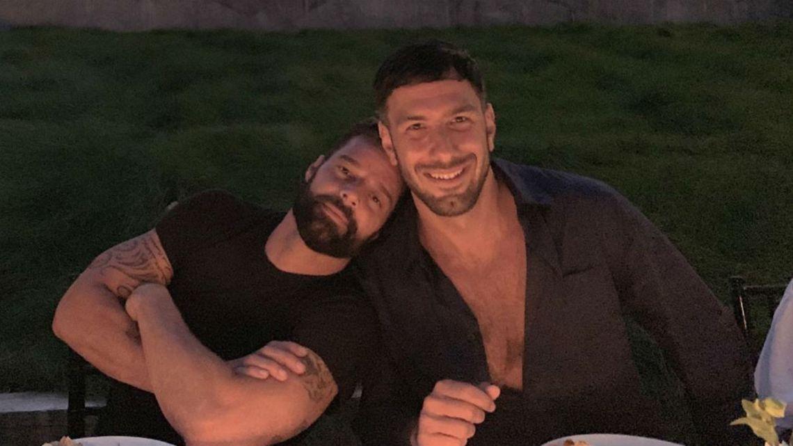 Ricky Martin y su marido en su cumple