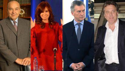 Domingo Cavallo, Cristina Fernández, Mauricio Macri y Nicolás Dujovne.