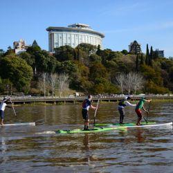 Stand up paddle, una pasión para los paranaenses.