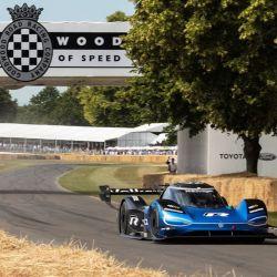 En el Festival de la Velocidad en Goodwood, el ID.R compitió contra autos de WRC, F1 y Nascar.