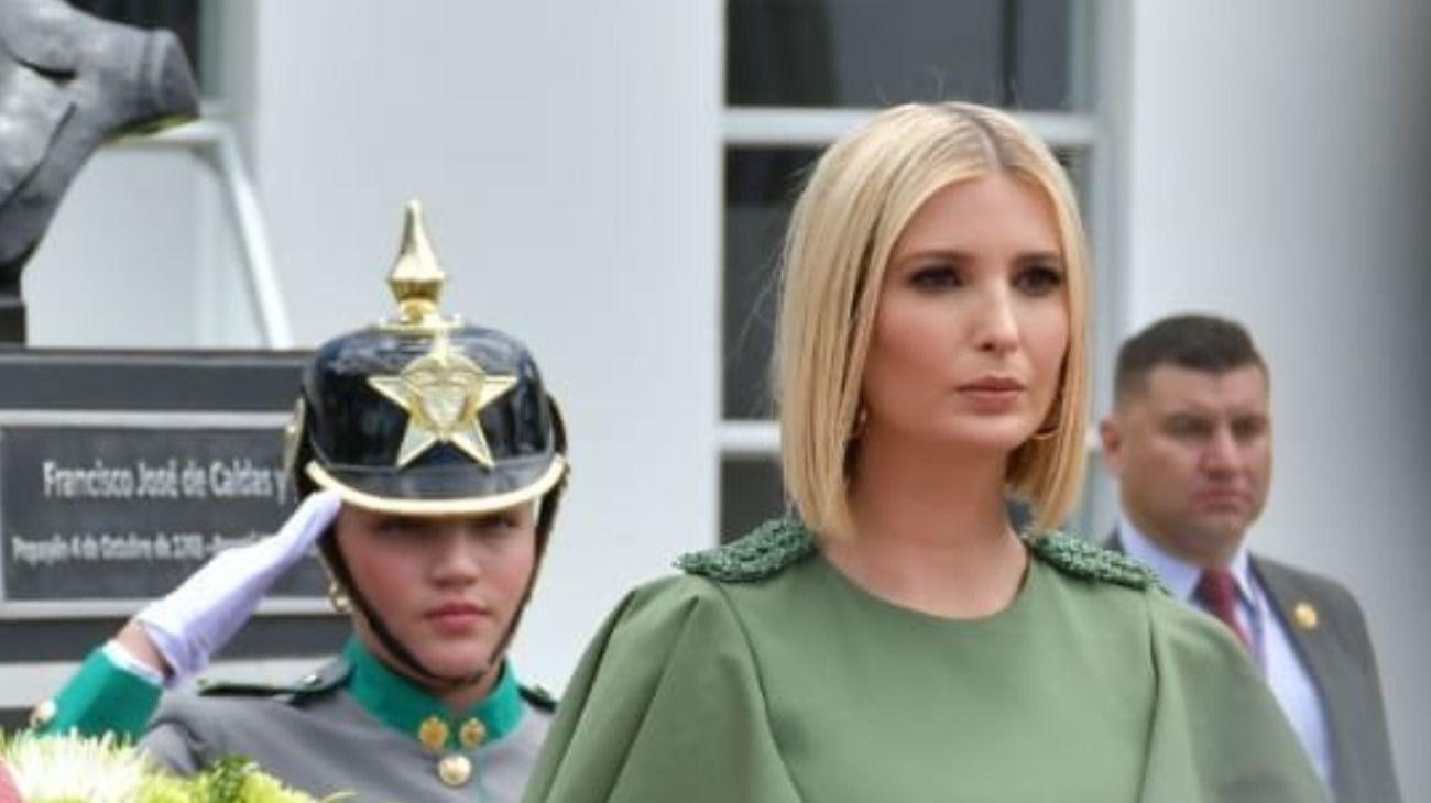 Antes de llegar a la Argentina, Ivanka Trump estuvo en Bogotá, Colombia, y participó de una serie de actos y reuniones.