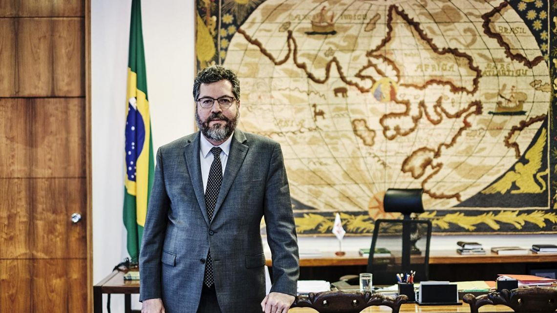 Ernesto Araujo, Brazil's foreign affairs minister, stands for a photograph following an interview in Brasilia, Brazil, on Monday, September 2, 2019.