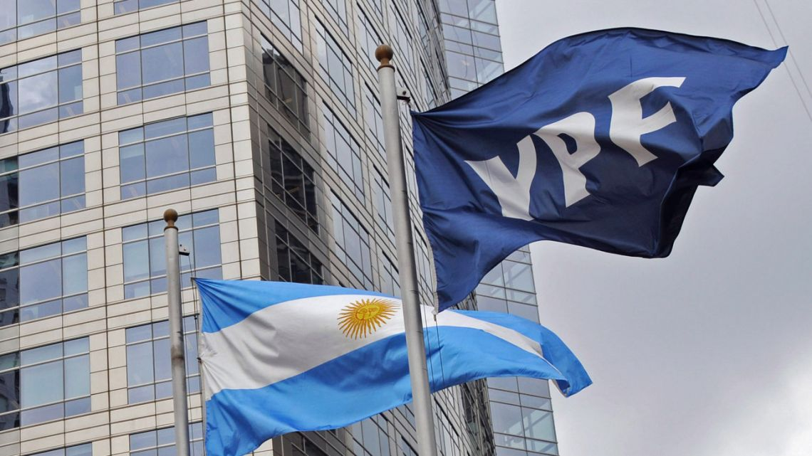 The headquarters of state-run energy firm YPF.