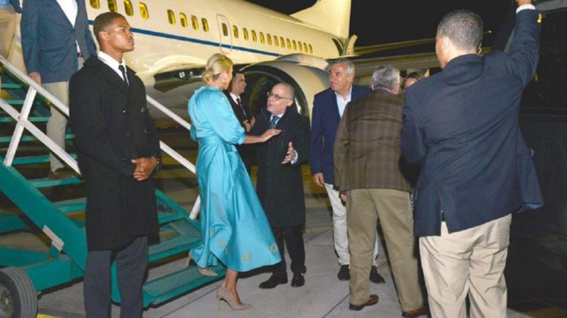 Ivanka Trump lands in Jujuy last night.