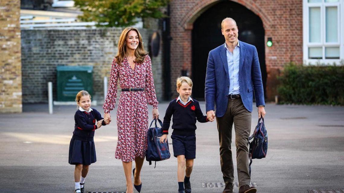 La Princesa Charlotte comenzó su primer día de clases con emoción y mucha timidez