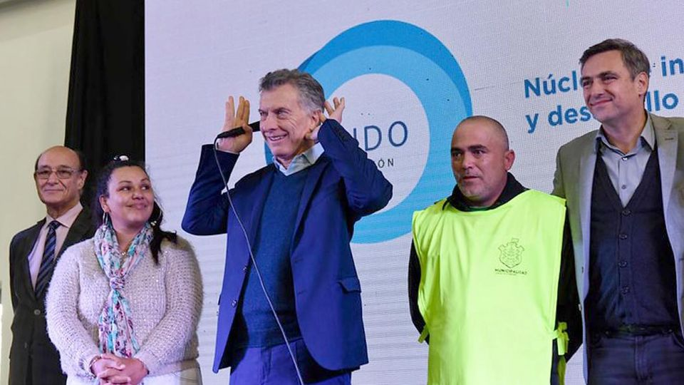 El presidente Mauricio Macri en la provincia de Córdoba.