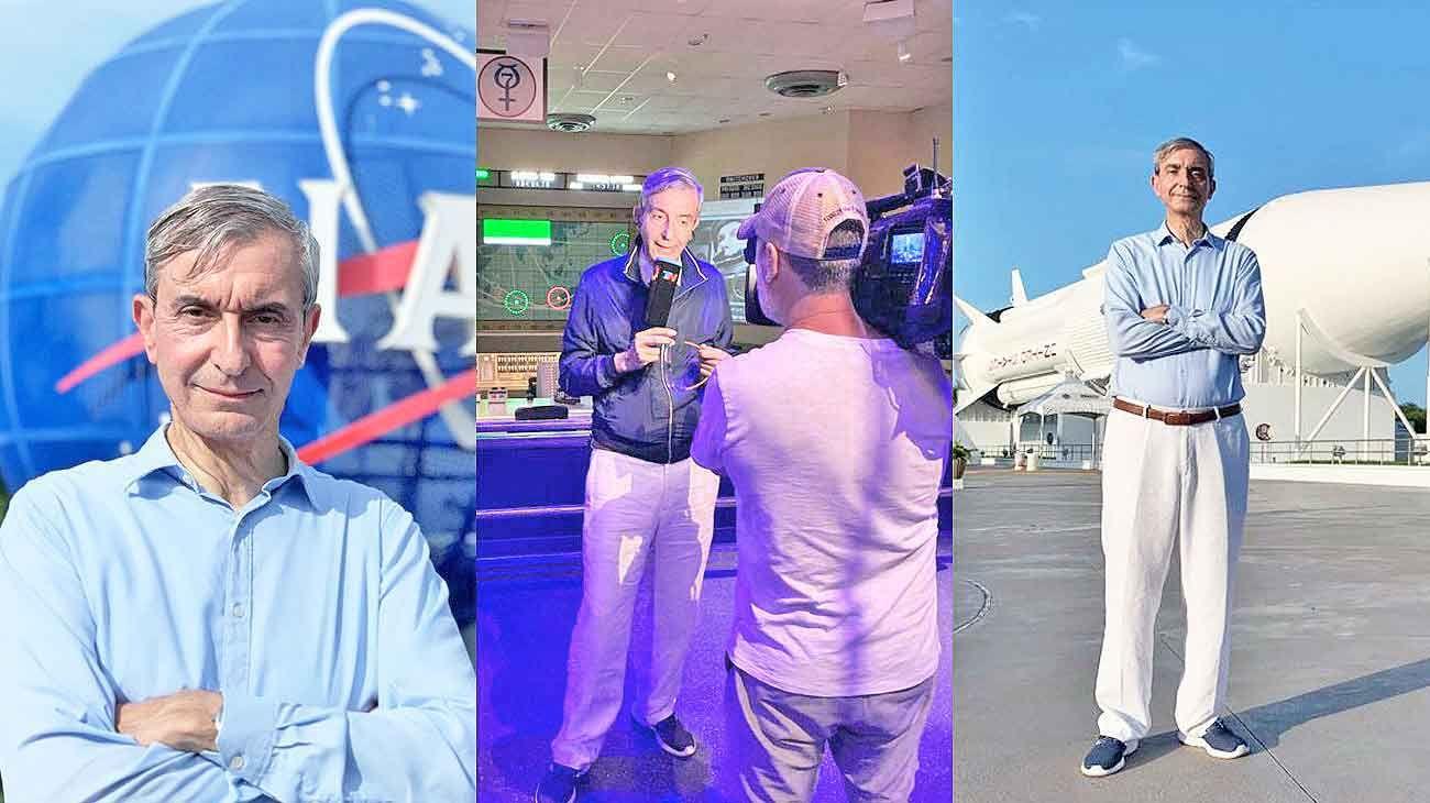 Momentos. Nelson estuvo hace poco en la NASA, por los cincuenta años de la llegada del hombre a la Luna.