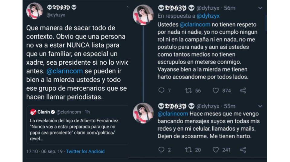 Los tuits de Estanislao Fernandez.