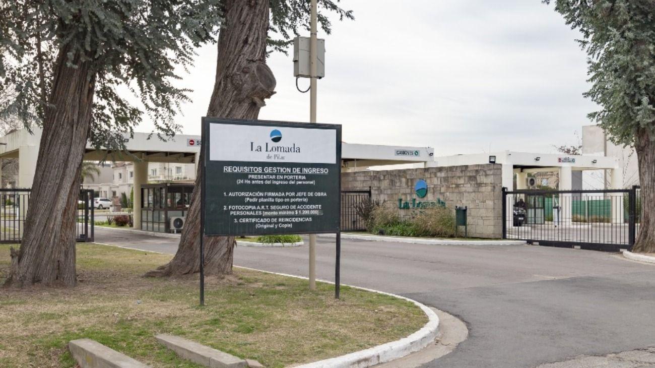 El barrio La Lomada, en Pilar, donde se detectaron las conexiones clandestinas de servicio eléctrico.