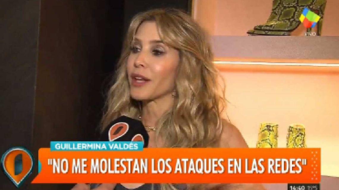 "Guillermina Valdés sobre Marcelo Tinelli: ""Me emociona todo lo que hicimos y construimos"""