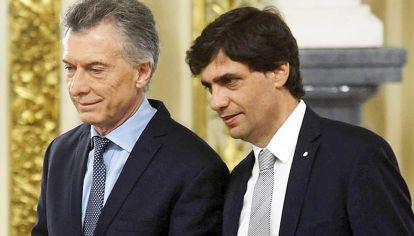 Respiro. La llegada de Lacunza a la Rosada generó una bocanada de oxígeno para Macri.