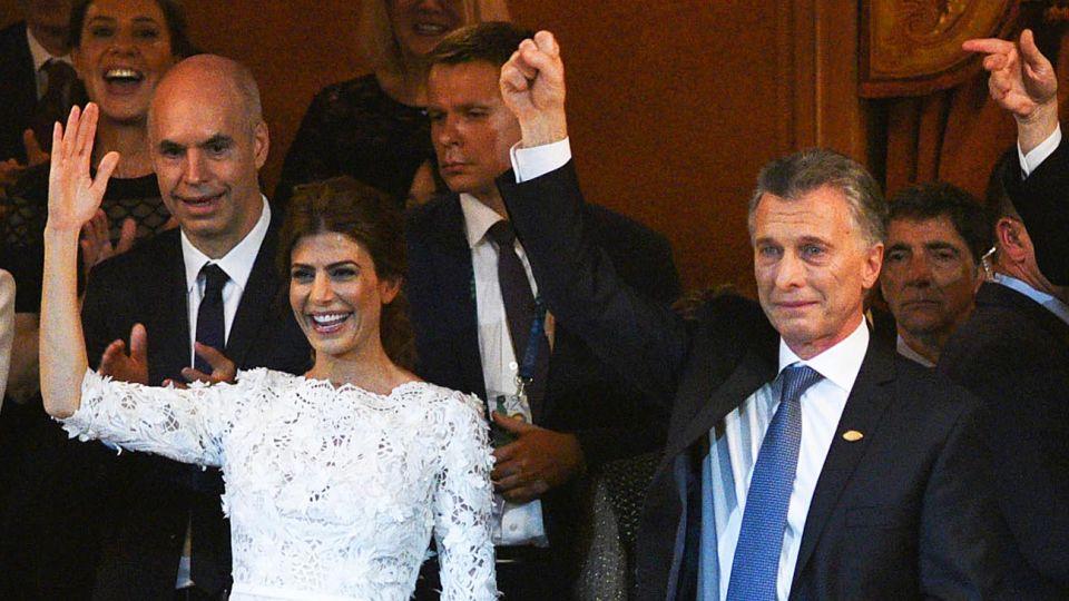 Llanto contenido. Macri estuvo dos veces al borde de las lágrimas.