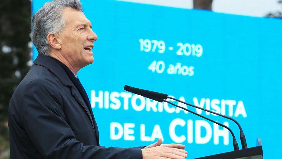 Aniversario. El Presidente lideró ayer el acto para recordar la histórica visita de la CIDH en 1979.