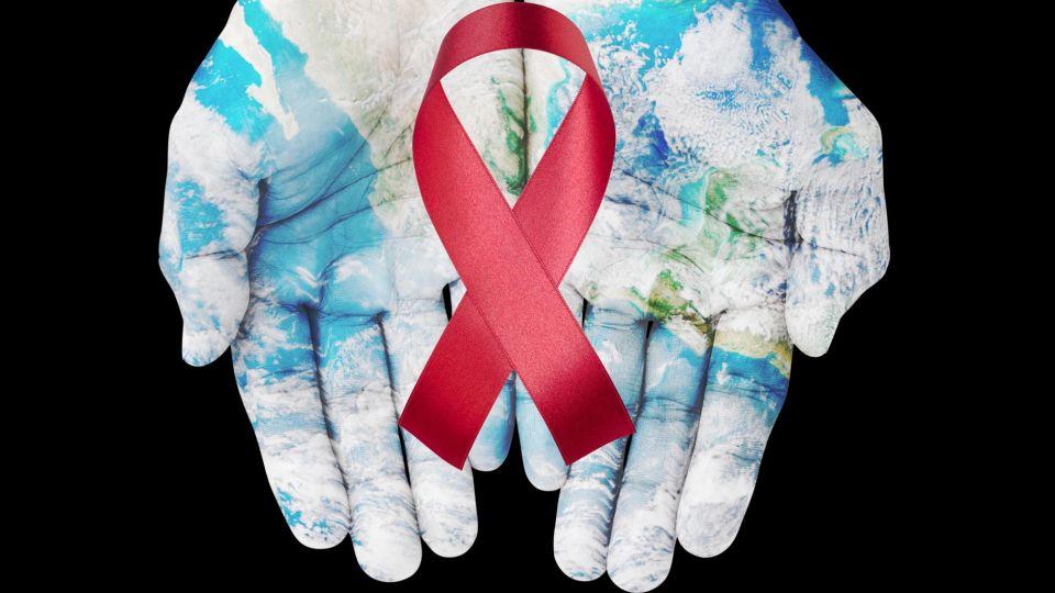 Emblemas de campaña de lucha contra el SIDA.