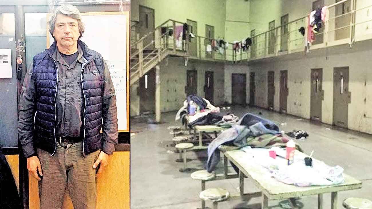 Solitario. El ex juez de garantías que intervino en el caso Píparo, entre otros hechos resonantes, sufrió un cuadro de estrés producto del encierro y tuvo que ser asistido en el hospital de la cárcel.