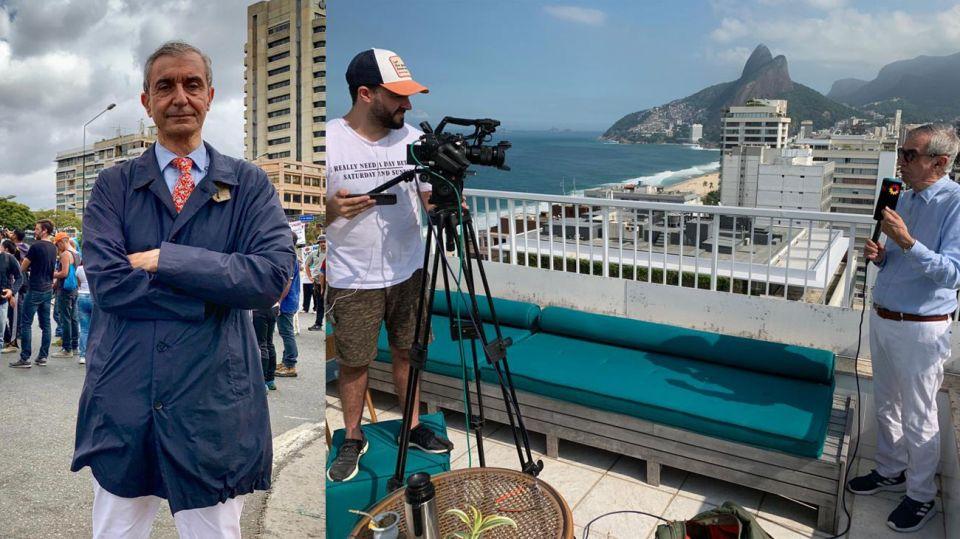 Nelson Castro cautiva con su viajero rol de cronista.