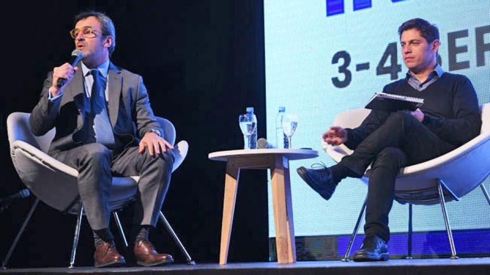 Análisis. Rappallini con Kicillof, un día después de reunirse con Vidal, en Costa Salguero.