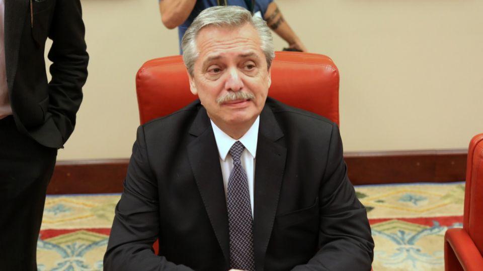 Alberto Fernández habló ante el Congreso de España.