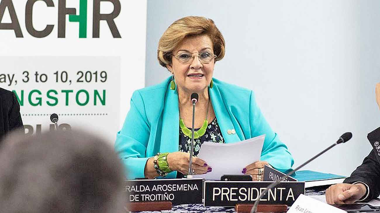 Presidenta. Arosemena describe la labor actual de la CIDH.